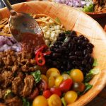 Skinny Taco Salad Bowl - top it with salsa mixed with yogurt, delish!
