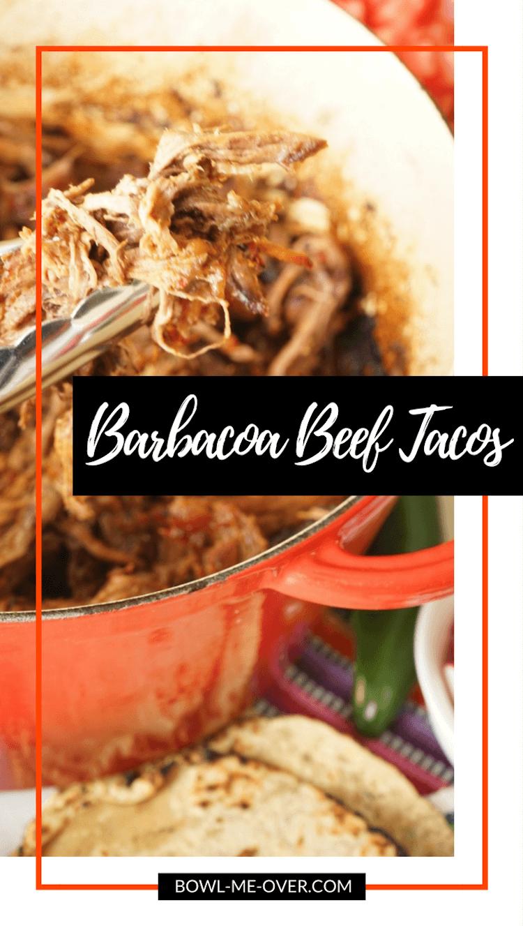 Homemade Barbacoa Beef Tacos