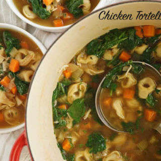 30 Minute Chicken Tortellini Soup