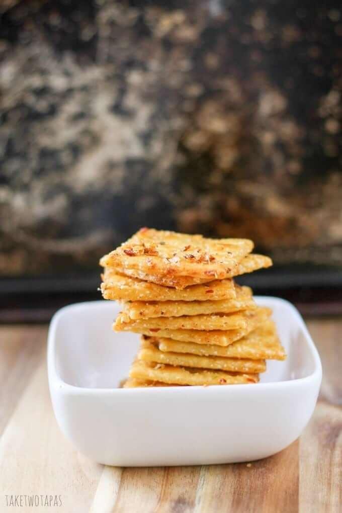 Spicy, crispy Comeback Crackers.