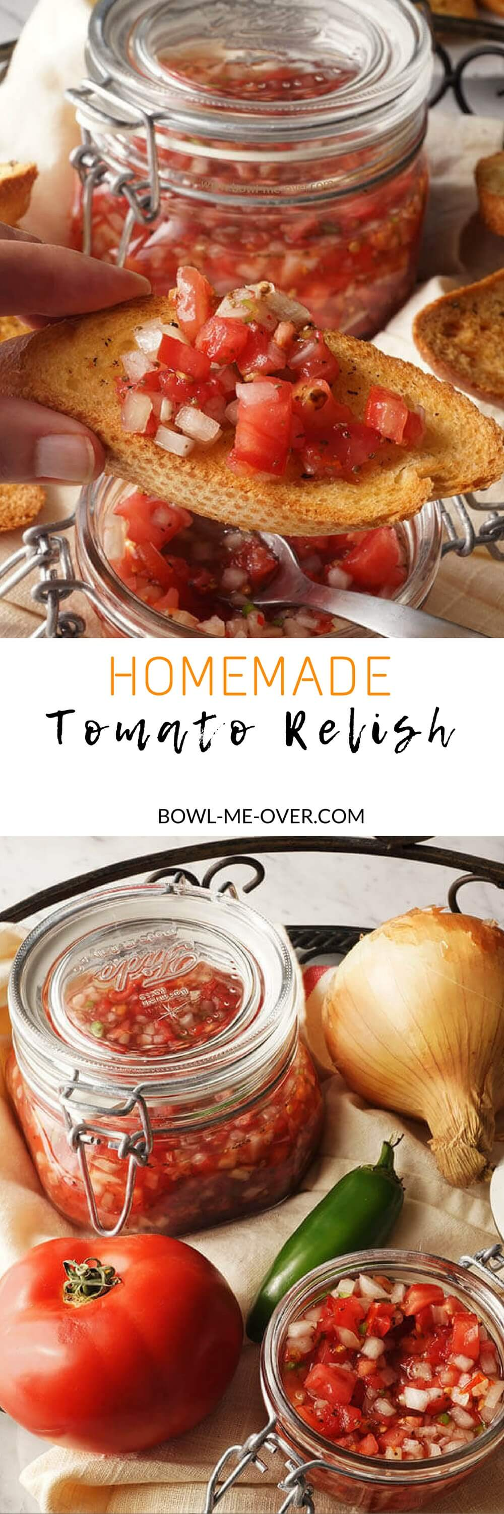 Homemade Tomato Relish will be your new favorite condiment!