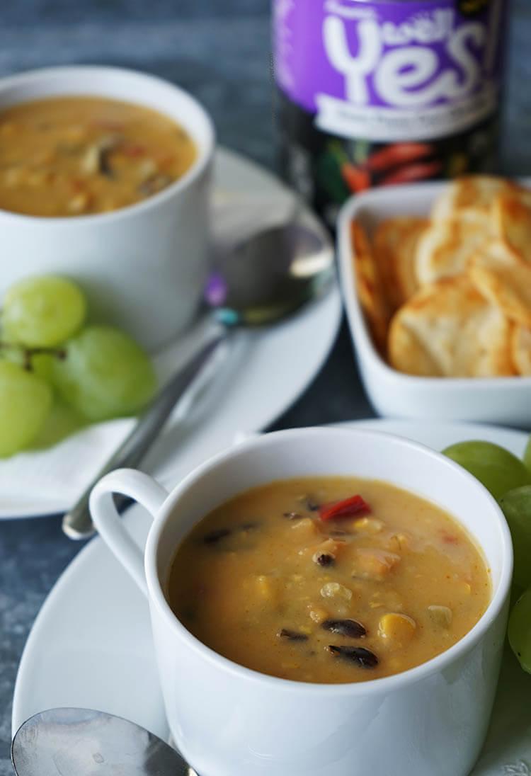 Sweet Potato Corn Chowder Soup