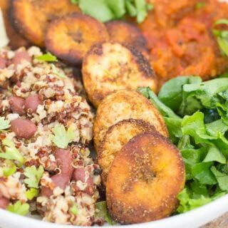 Vegan Cuban Bowl with Plantains