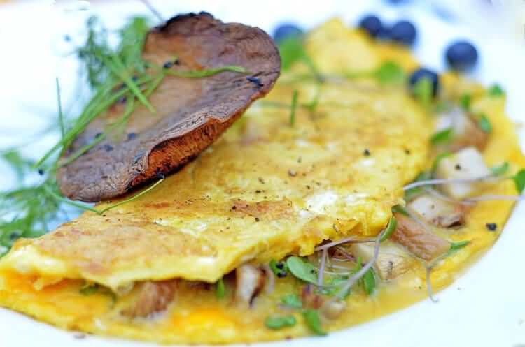 This Mushroom Omelette Recipe with Microgreens.