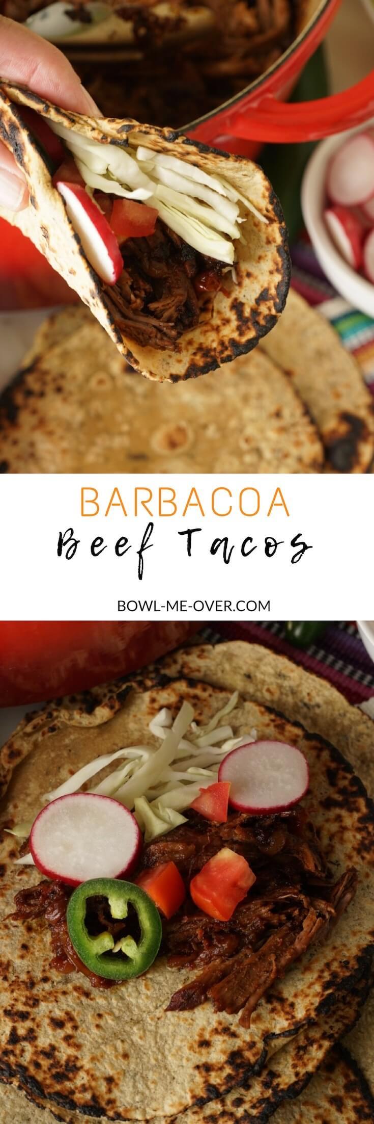 Easy Barbacoa Beef Tacos