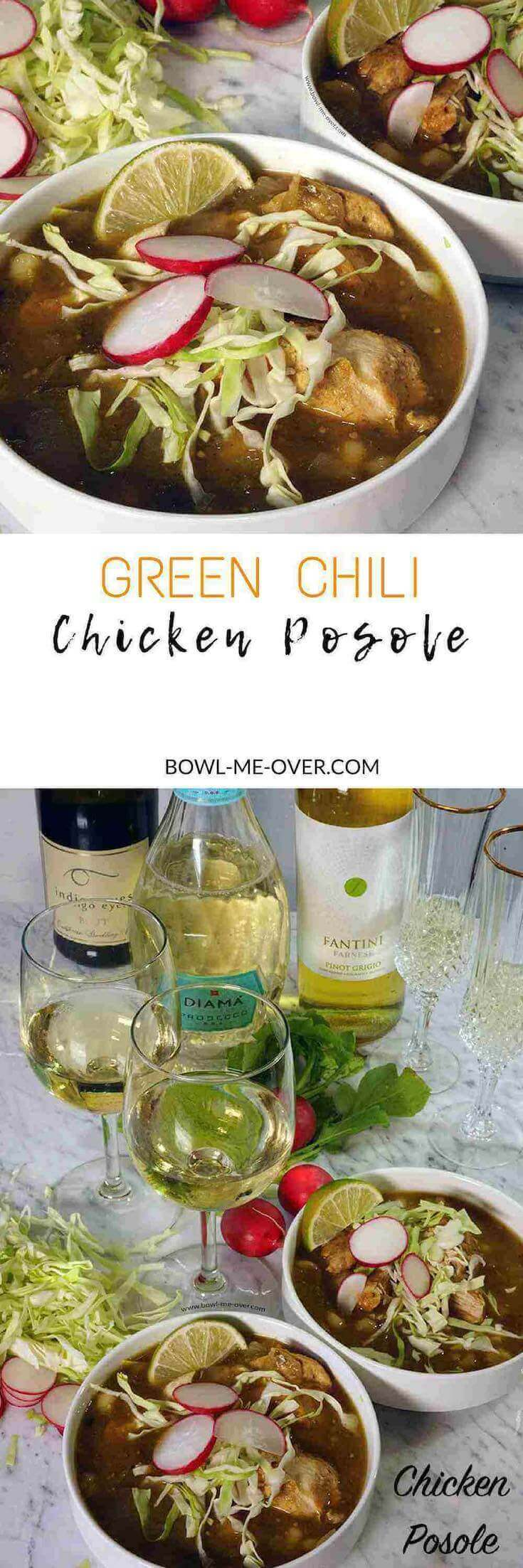 Want authentic flavor? Serve up a big hearty bowl of Green Chili Chicken Posole.