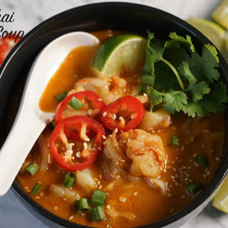 Spicy Thai Noodle Soup with Shrimp