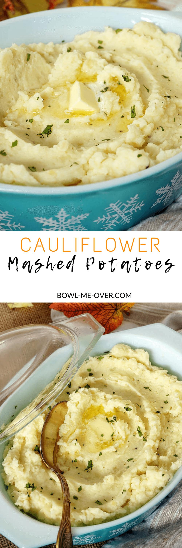 Cauliflower Mashed Potatoes - our favorite way to enjoy mashed potatoes!