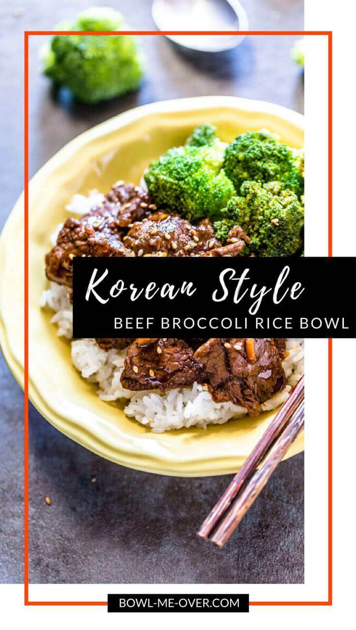 Beef Broccoli Rice Bowl - thinly sliced tender beef marinaded, then sautéed with sweet crunchy broccoli makes this a crave-worthy dish!