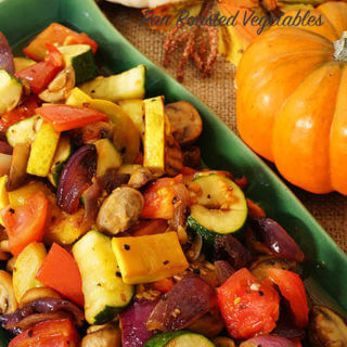 Pan Roasted Vegetables with Sauce