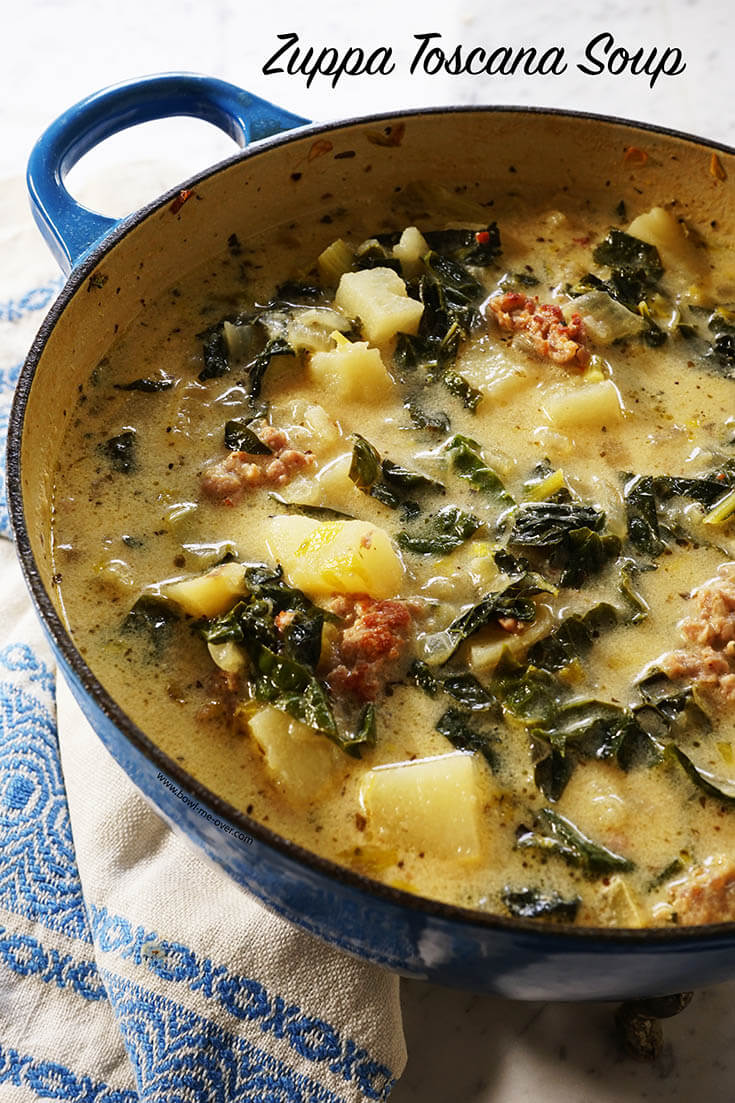 Zuppa Toscana Soup Recipe - Bowl Me Over