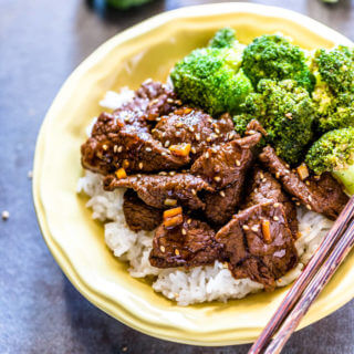Korean Style Beef Broccoli Rice Bowl