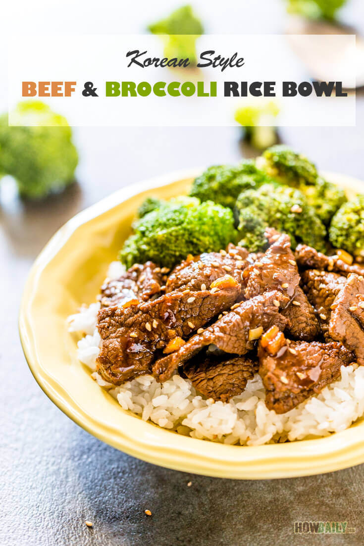 Beef Broccoli Rice Bowl