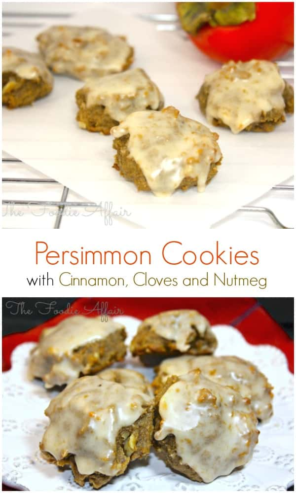 Persimmon Cookies from The Foodie Affair #PersimmonCookies
