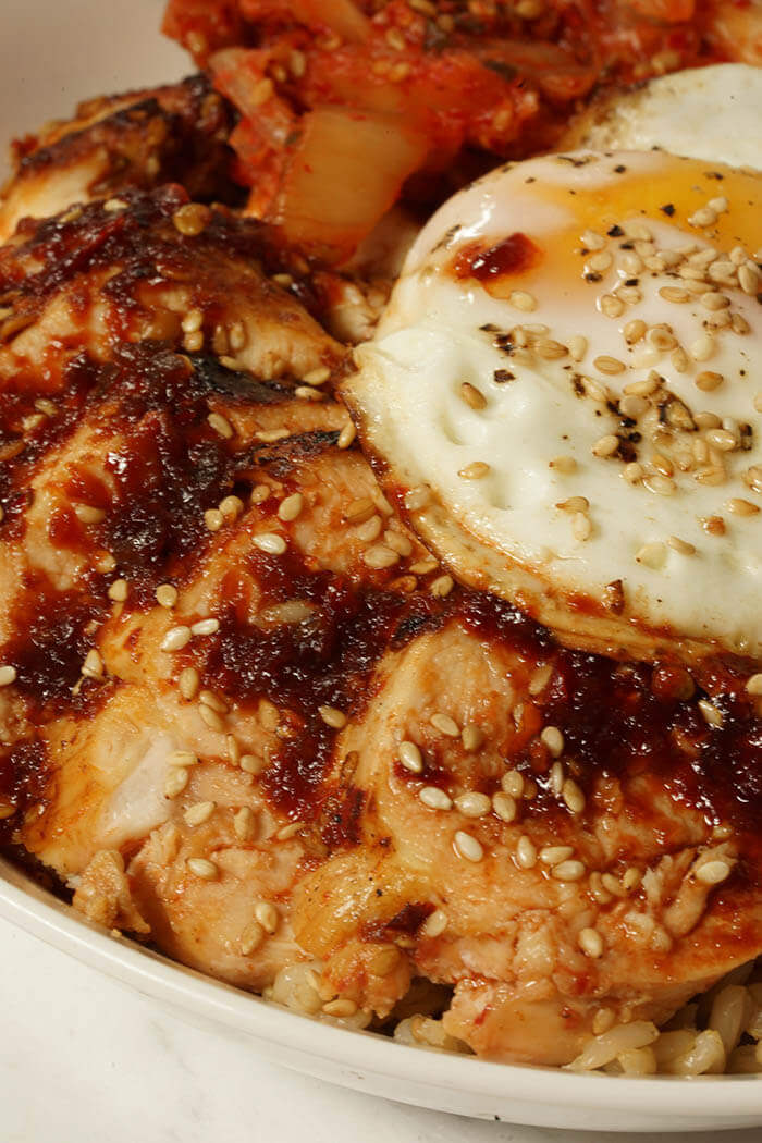 Korean bbq sauce recipe bowl me over chicken marinated with a korean bbq sauce recipe then grilled and thinly sliced a fried forumfinder Gallery