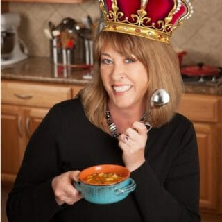 Deb's been crowned the Queen of Homemade Soup completely with a crown!