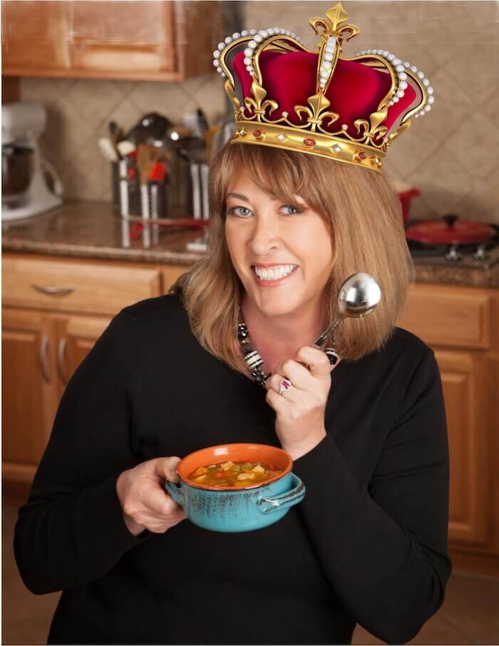 Deb's been crowned the Queen of Homemade Soup complete with a crown!