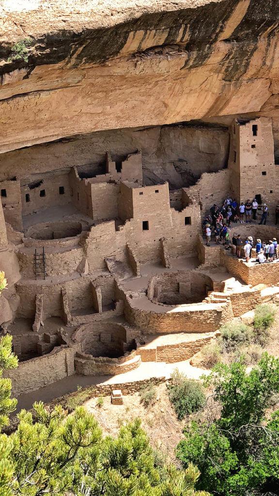 Ancient Pueblo Ruins in Mesa Verde National Park