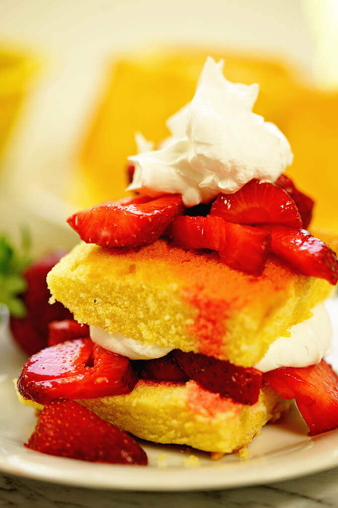 This is the easiest recipe and most delicious too for strawberry shortcake!