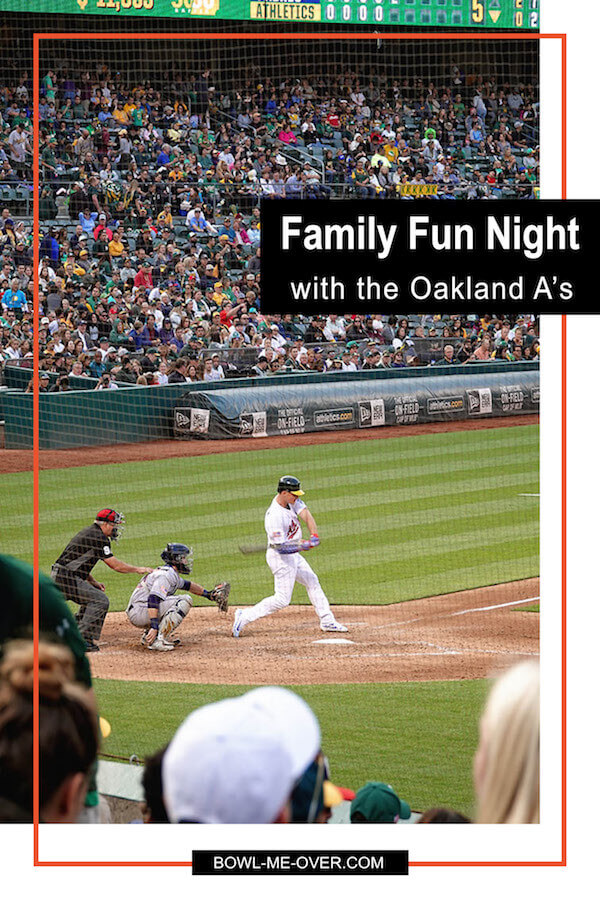 Watching the Oakland A's and enjoying family fun night! Oh and the food.... oh the food! Because here's what you need to eat while you're at the stadium! #ad #RootedInOakland #familyfunnight #GetAwayDealsforTwo @athletics