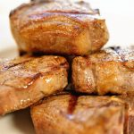 Step by step directions how to grill lamb chops and a platter of grilled meat, ready to enjoy!