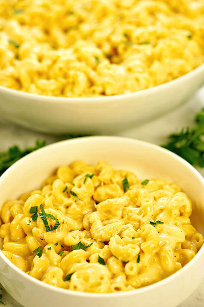 Bowls of Instant Pot Macaroni and Cheese