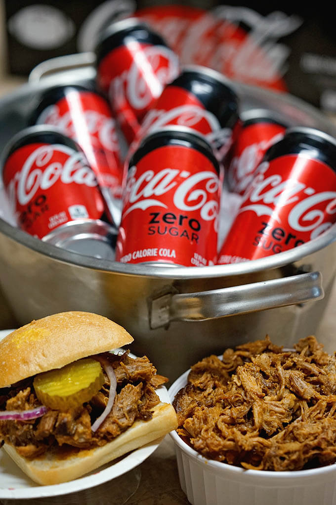 Pulled Pork with Soda in a bucket