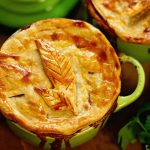 Turkey Pot Pie Recipe cooked in ramekins.