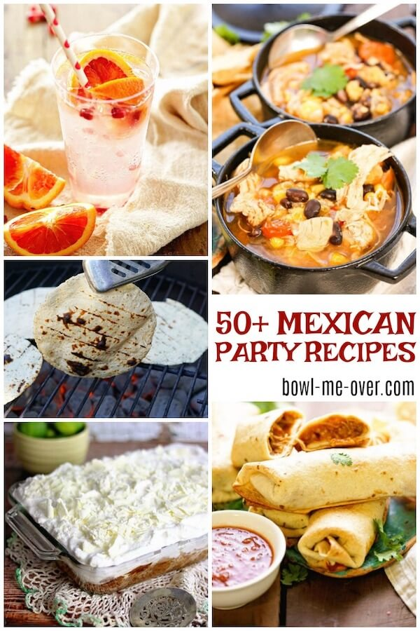 Round of of 50+ Mexican Party Food Ideas