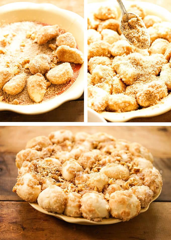 Step by step photos to make sticky cinnamon buns