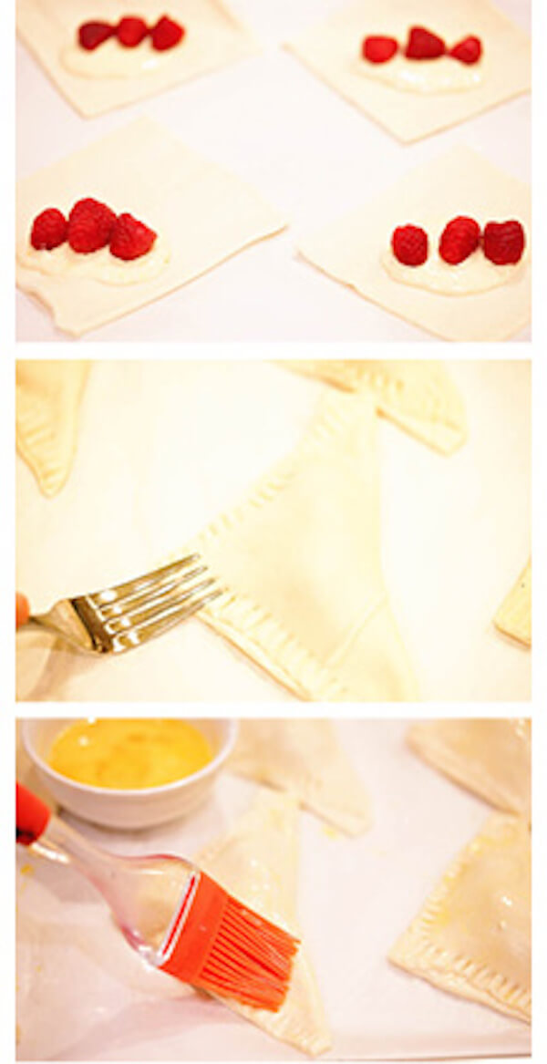Step by step photos how to make homemade cream cheese danish