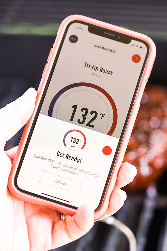 App for grilling thermometer enables you to watch how the meat is cooking.