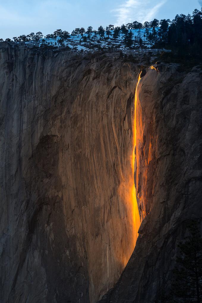 Horsetail Falls Yosemite National Park