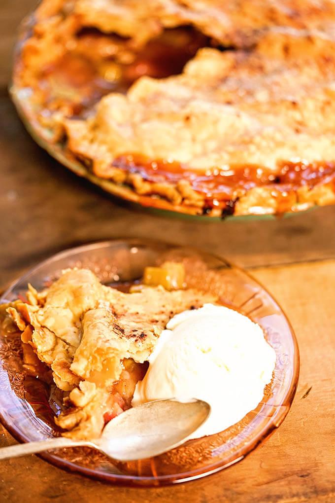 BEST Rhubarb Pie Recipe! - Bowl Me Over