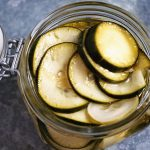 Easy Refrigerator Pickles in glass jar