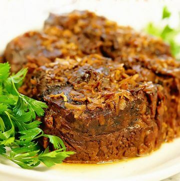 Pot Roasted on platter garnished with parsley.