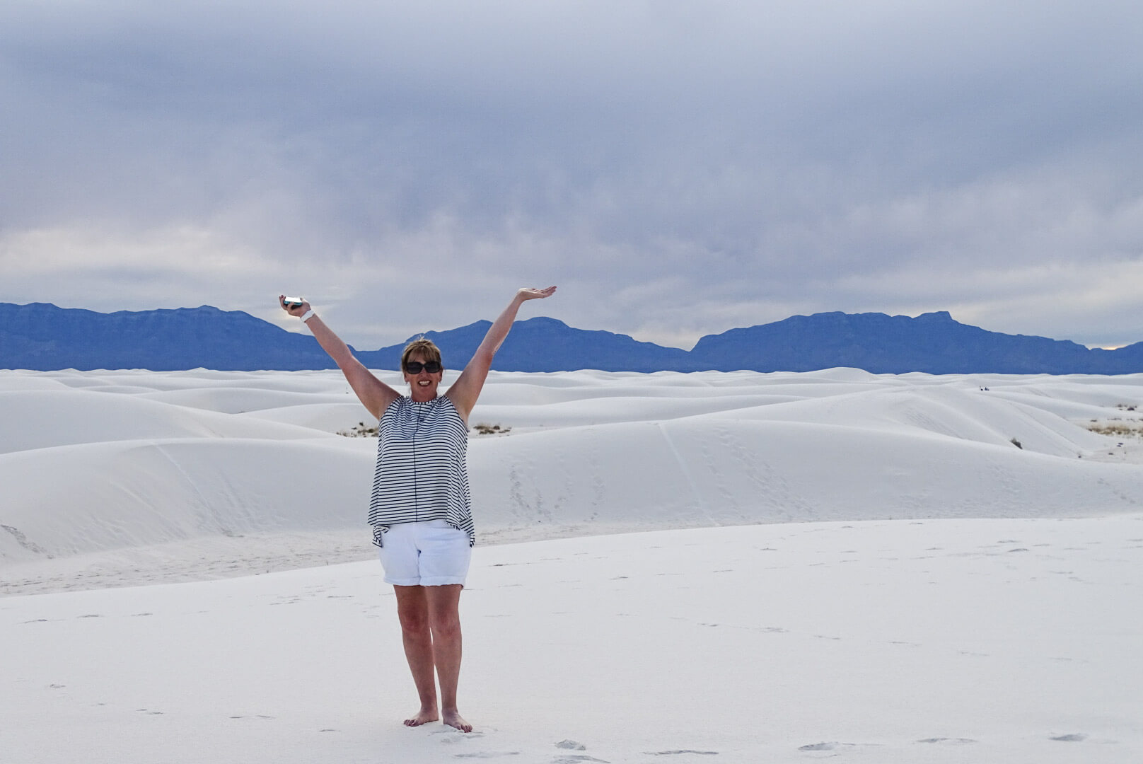 Deb at White Sands Dunes, New Mexico