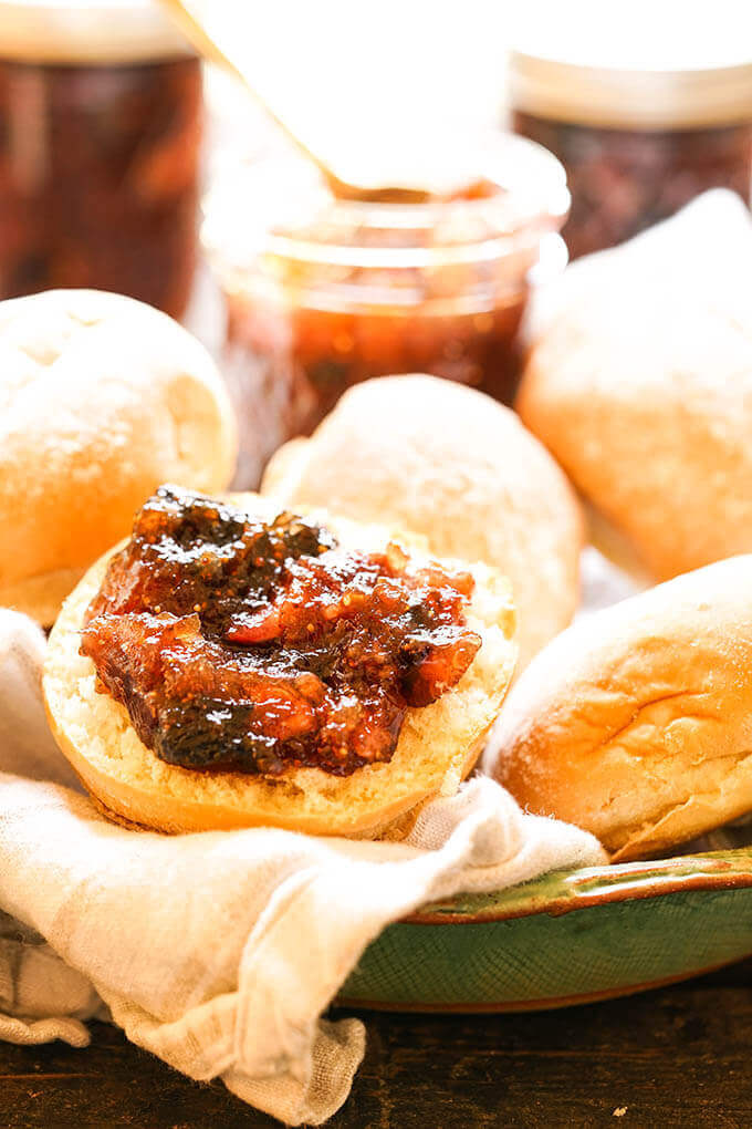 Fig Jam Recipe on roll.