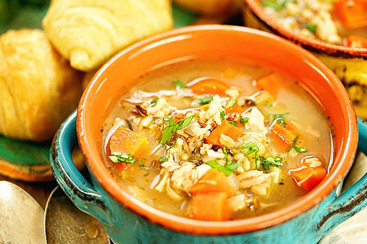 Easy Chicken and Wild Rice Soup Recipe.