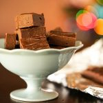 Easy Homemade Fudge Recipe in bowl.