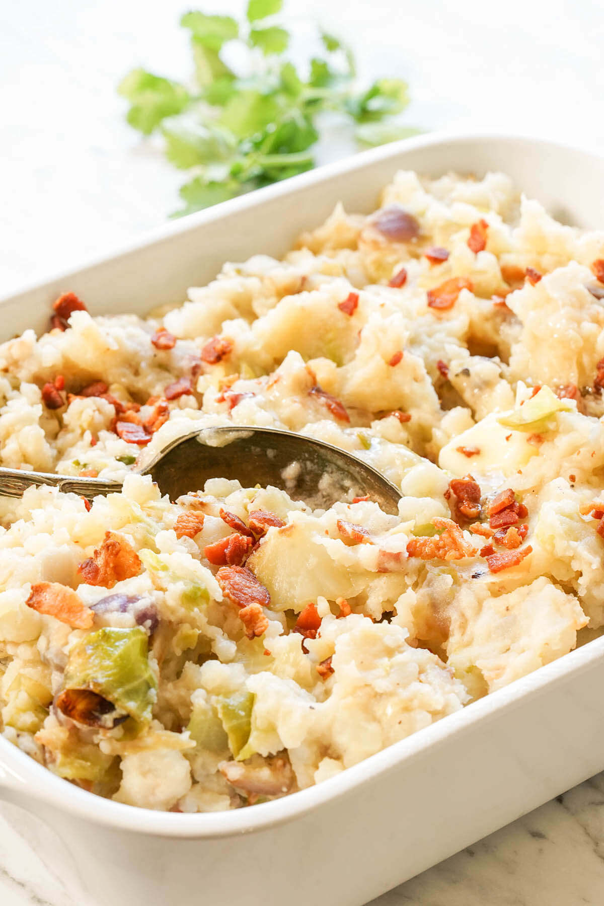Colcannon Potatoes a great St. Patricks Day Recipes for Potlucks
