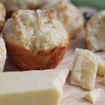 Soda bread muffins with butter.