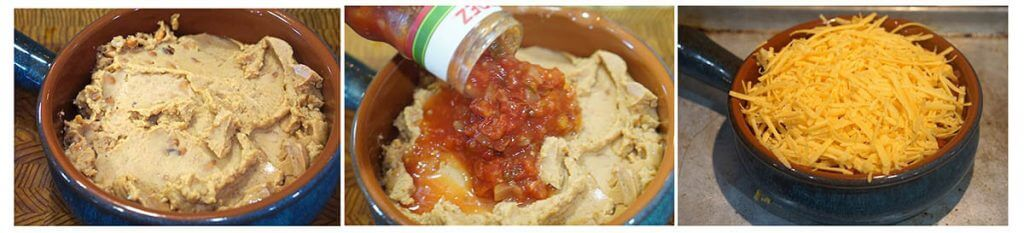 Step by step instruction to make dip.