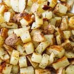 Crispy browned potatoes