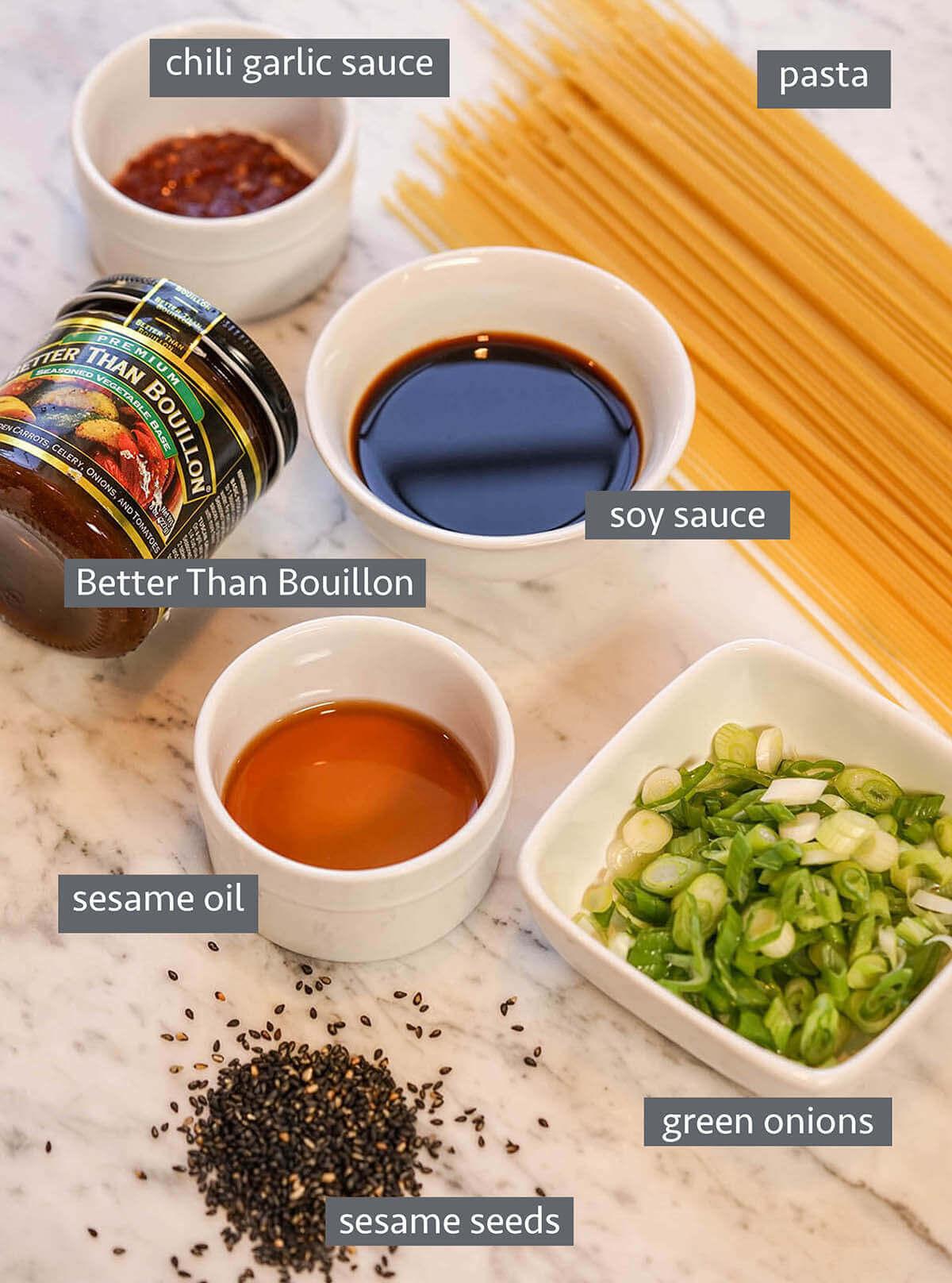 Sesame Noodle Ingredients