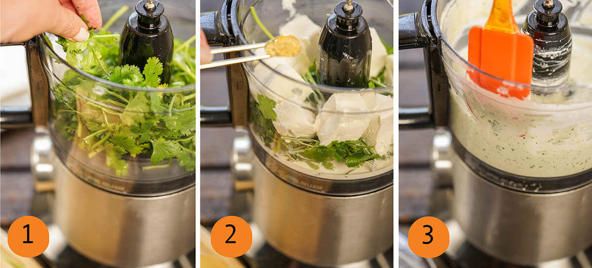 Step by step directions to make the condiment.