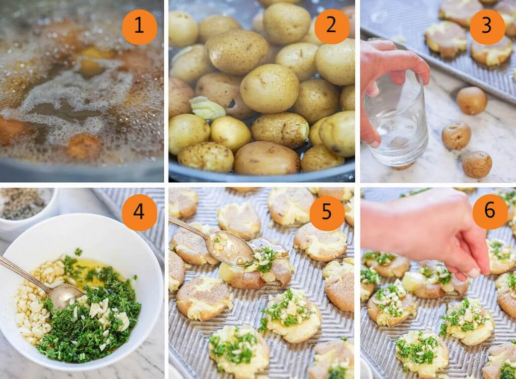 Step by step directions for recipe