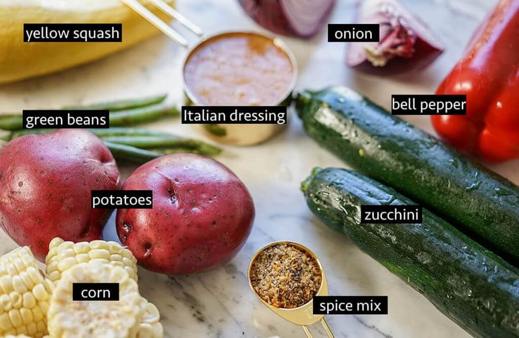 Vegetable Foil Packet ingredients