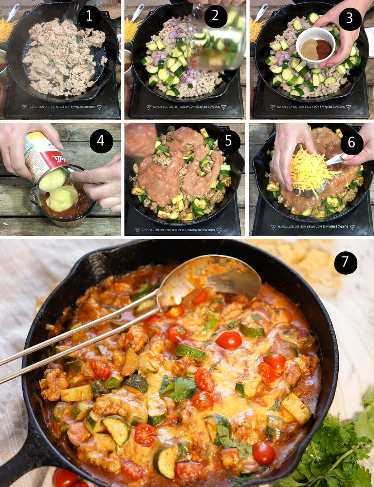 step by step direction to make casserole dish.