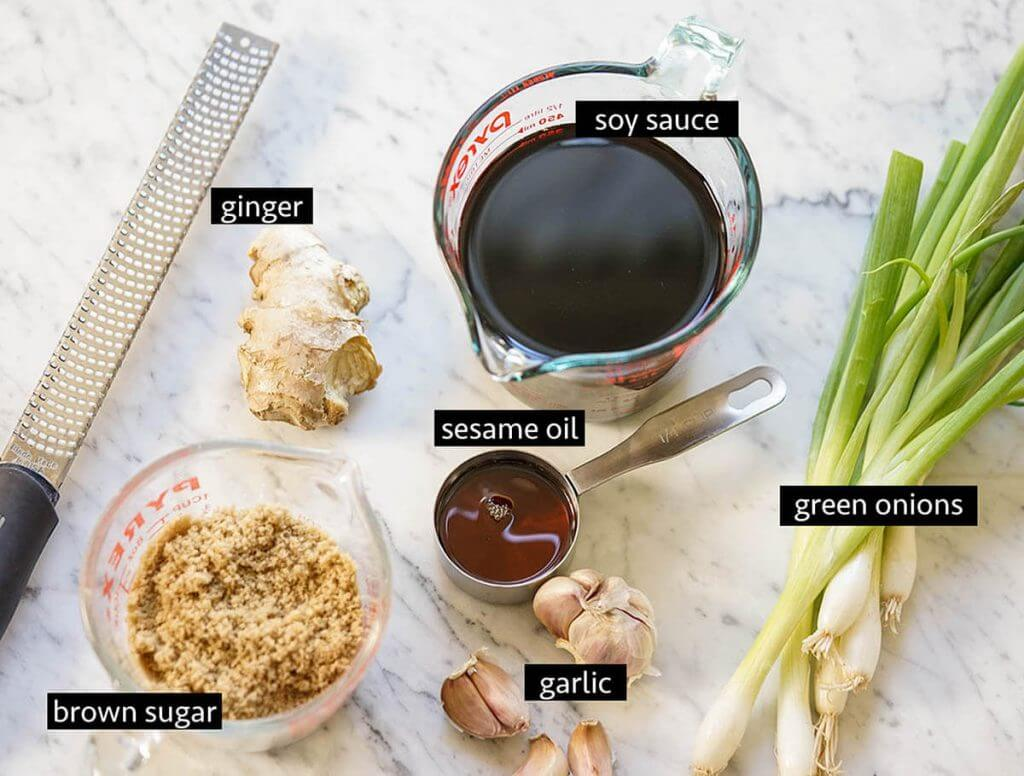 Ingredients for Teriyaki Marinade Recipe